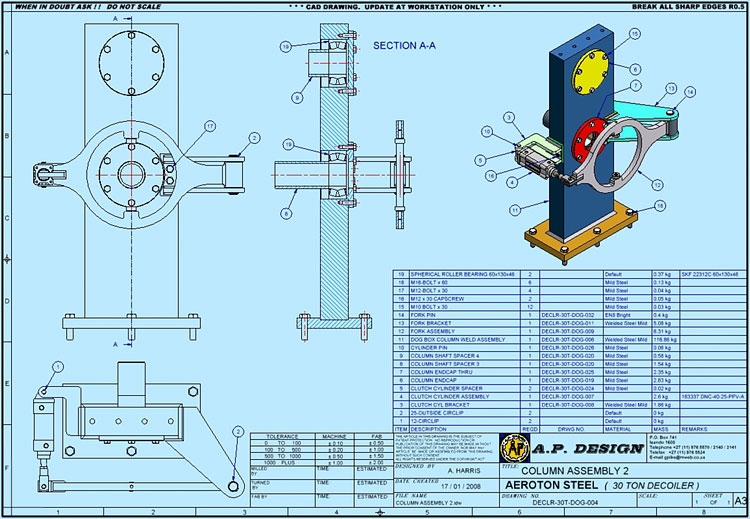 3d 2d Design Draughting 3d 2d Machinery Designs Ap